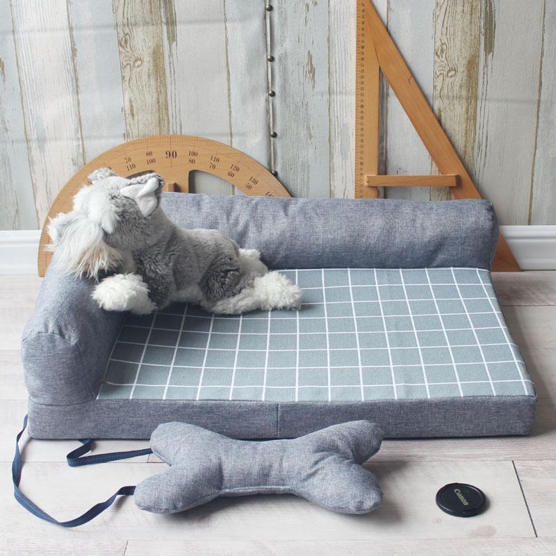宠物狗窝猫窝狗床狗垫子沙发加厚垫可拆洗夏季空调金毛泰迪榻榻米假一赔十