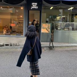 MIKASTUDIO小玉酱毛衣女秋冬宽松外穿韩版学生慵懒风毛线开衫外套图片