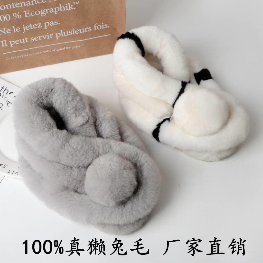 天天特�r新款�H兔毛皮草��巾女冬季加厚保暖兔毛��脖��巾毛�I�n版