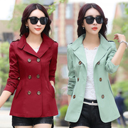 Spring and Autumn short section of the fashion was thin windbreaker jacket 2017 new women's long sleeves Slim Korean version of large size wild shirt