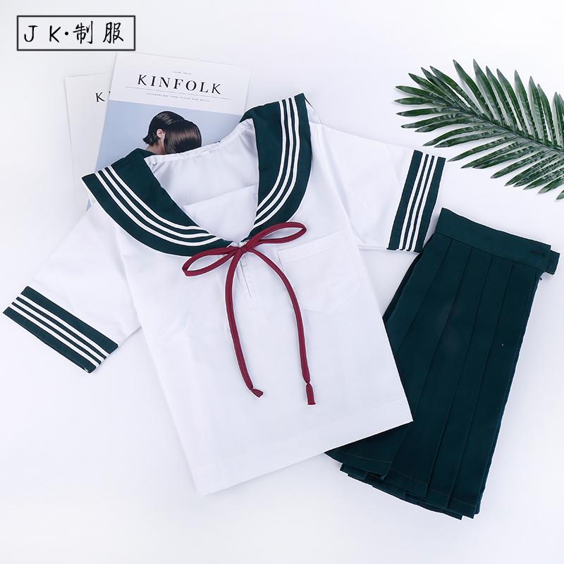 日系班服 学生JK制服 角襟男女白衬衫长袖水手服校服 学生DK制服需要用券