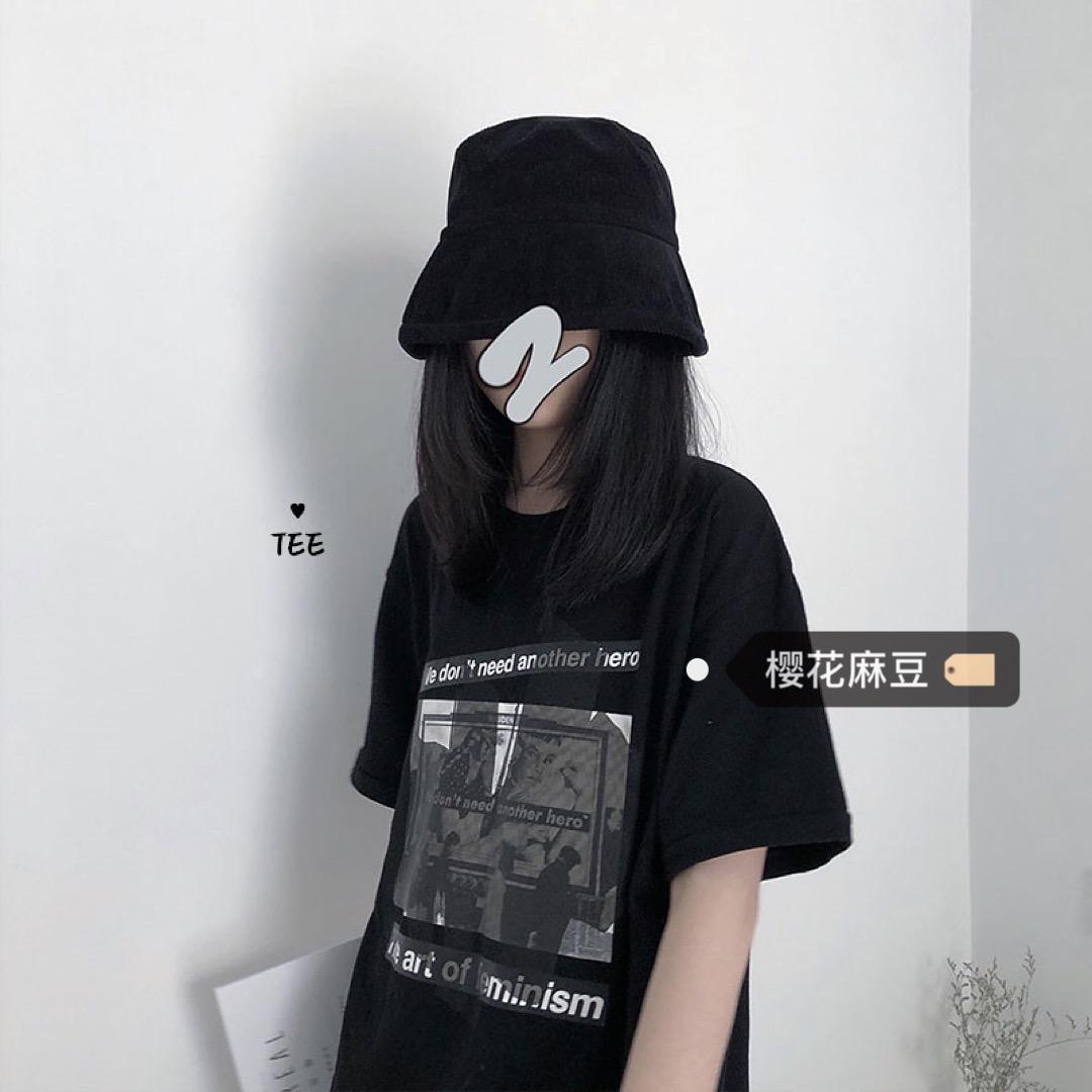 热销105件假一赔三樱花麻豆韩风chic暗黑系少女t恤