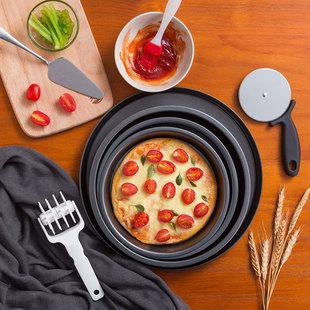 蛋糕模具 不沾披萨盘烤盘家用烘焙烤箱6 10寸圆形pizza套装