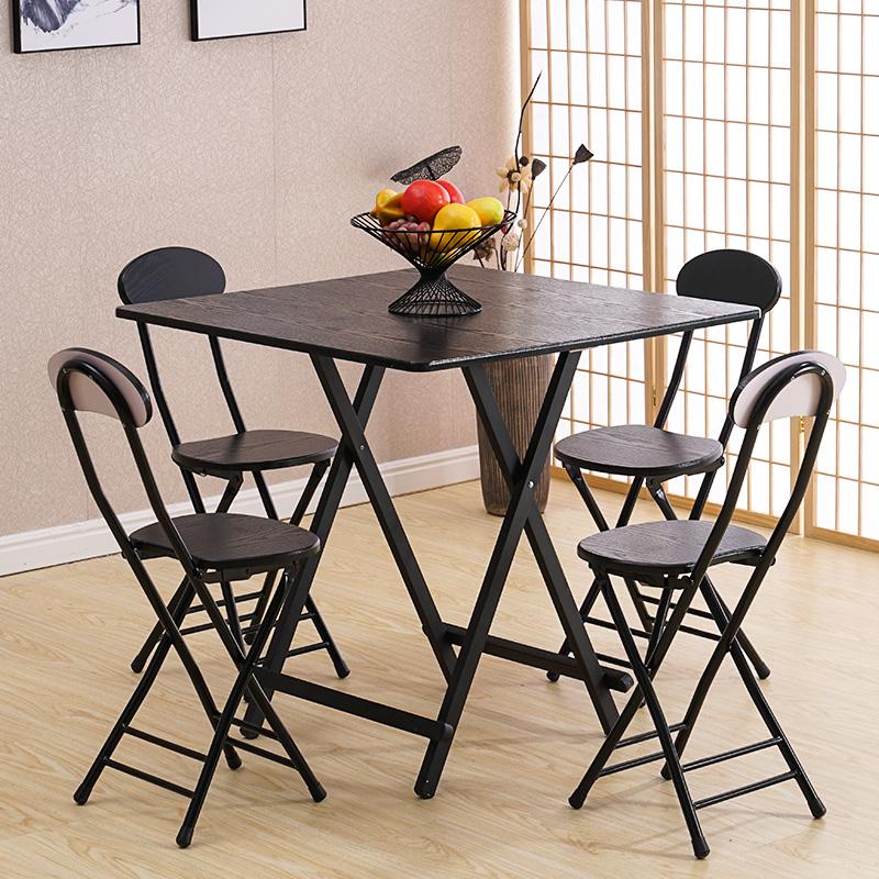 折叠桌小饭桌简易方桌折叠餐桌小户型便携式方桌手提桌阳台小桌子