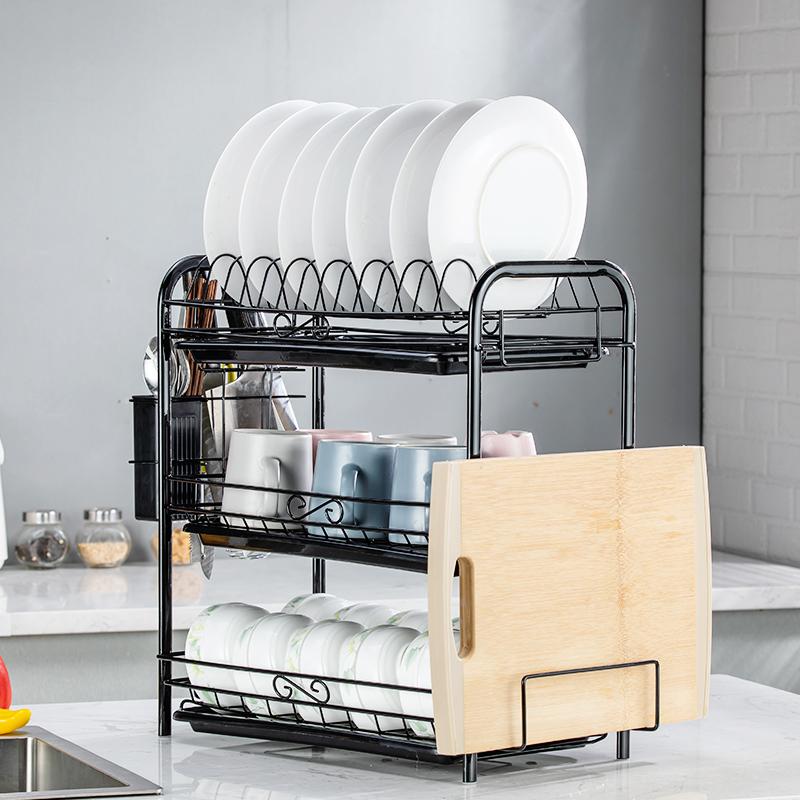 厨房置物架洗放晾碗架沥水架盘子碗筷碗碟用品用具收纳碗柜置碗架