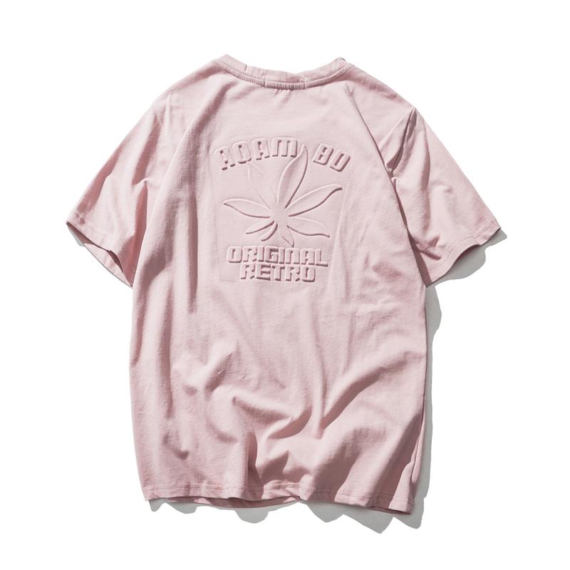 日系女装半袖女2018新款原宿风粉色港味复古上衣ins同款短袖t恤女