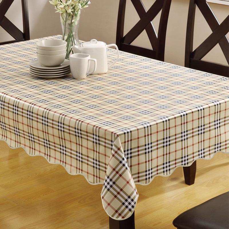 桌布防水防烫防油免洗PVC塑料餐桌台布布艺长方形茶几垫圆形家用
