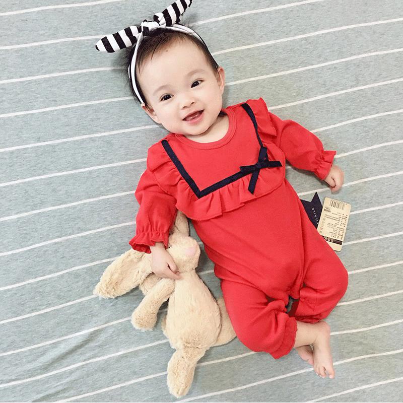 新生婴儿连体衣服初生女宝宝可爱超萌春秋套装满月公主网红婴儿服(非品牌)