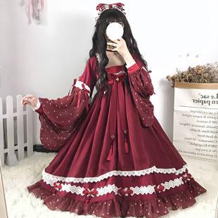 原創設計 結緣神op中華風漢元素lolita洛麗塔日常國風少女連衣裙