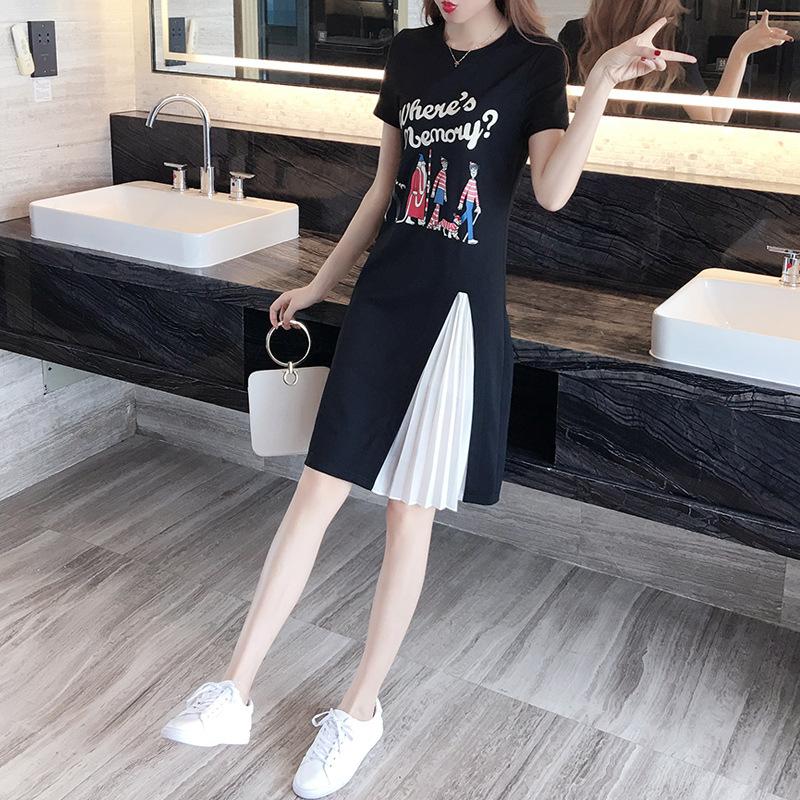2020夏季新款韩版时尚女装清新甜美套头A字裙连衣裙