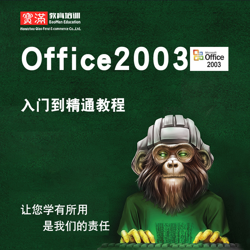 office2003视频教程 办公word/excel/ppt/access/outlook实战教学