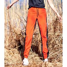 北京森林户外新款宽松休闲运动显瘦侧面拼条速干束脚口长裤女
