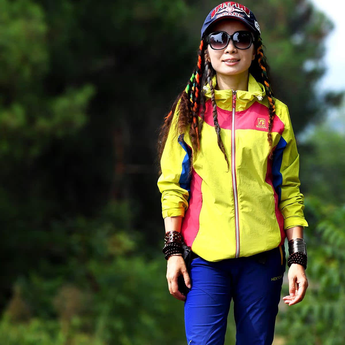 Пекин лес на открытом воздухе быстросохнущие одежда кожа ветровка весенний и осенний движение ветровка кардиган твердый пальто воздухопроницаемый женский