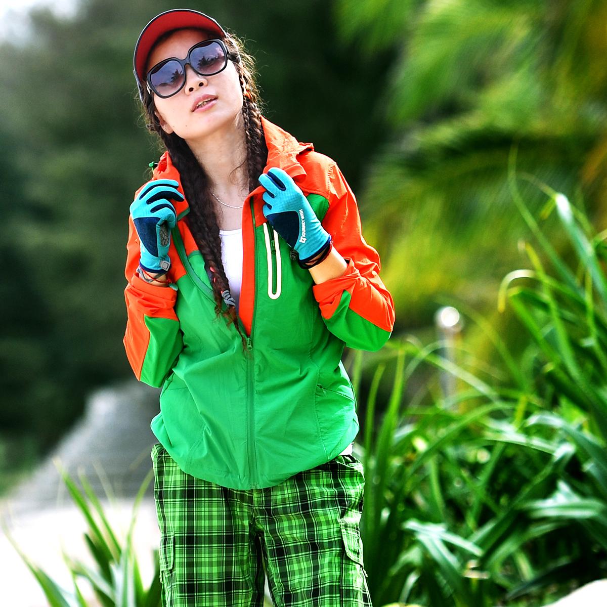 Пекин лес на открытом воздухе защита от ультрафиолетовых лучей движение кожа ветровка воздухопроницаемый пригодный для носки быстросохнущий тонкий быстросохнущие пальто женщина
