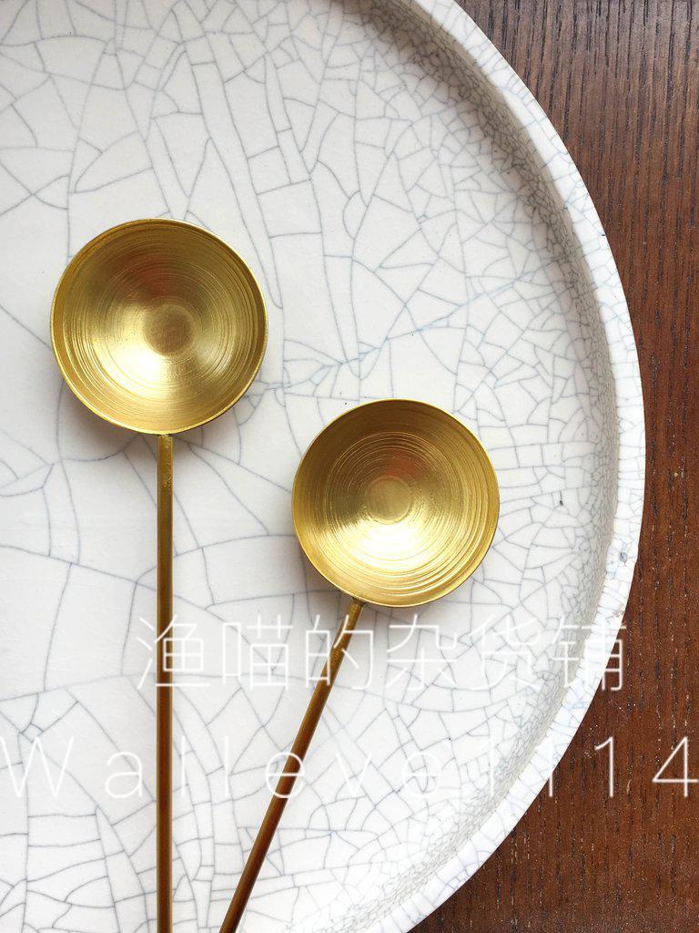 【渔喵】美代 小众 Earthen 黄铜边勺 手工锻造器具 厨房用具礼品