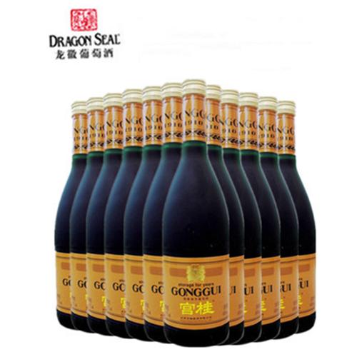龙徽中华宫桂葡萄酒桂花陈酒 女士甜酒 果露酒600mlx12瓶整箱包邮