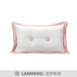 蓝梦格调样板房抱枕粉色女孩房儿童主题床品童趣可爱圆点腰枕靠垫