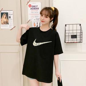 创意恶搞小雏菊权志龙同款黑色T恤2020春夏新款ins港风情侣短袖潮