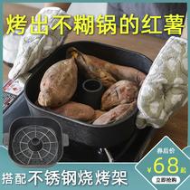 加厚铸铁烤红薯神器烤地瓜锅家用小型烧烤炉多功能土豆番薯山芋机