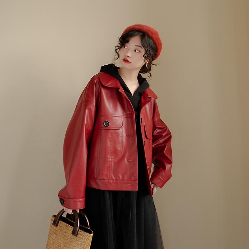安妮森林 敲大气显气质的第2件帅气的皮衣来啦2020冬新款