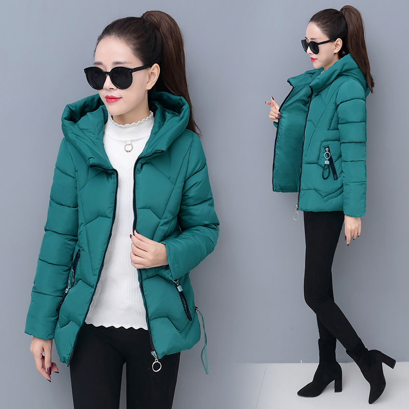 New winter cotton padded womens short Korean version slim and thickened fashion winter cotton padded coat womens small cotton padded jacket trend