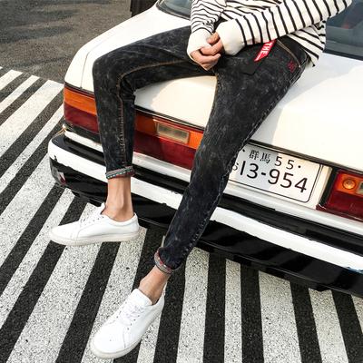 18年九分裤春季新款青少年雪花吊带牛仔裤K20-P45 限价69