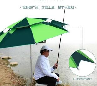 帶地插庭院傘釣魚傘大釣傘2.2米扣架雨傘創意太陽傘2米漁具小傘實