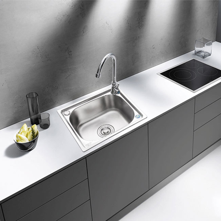 厨房不锈钢水槽小单槽厨房洗菜盆阳台洗碗池简易单槽套餐水盆支架
