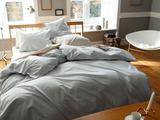 出口日本大牌订单 全棉60支贡缎床上用品 枕套 被套 床单 四件套