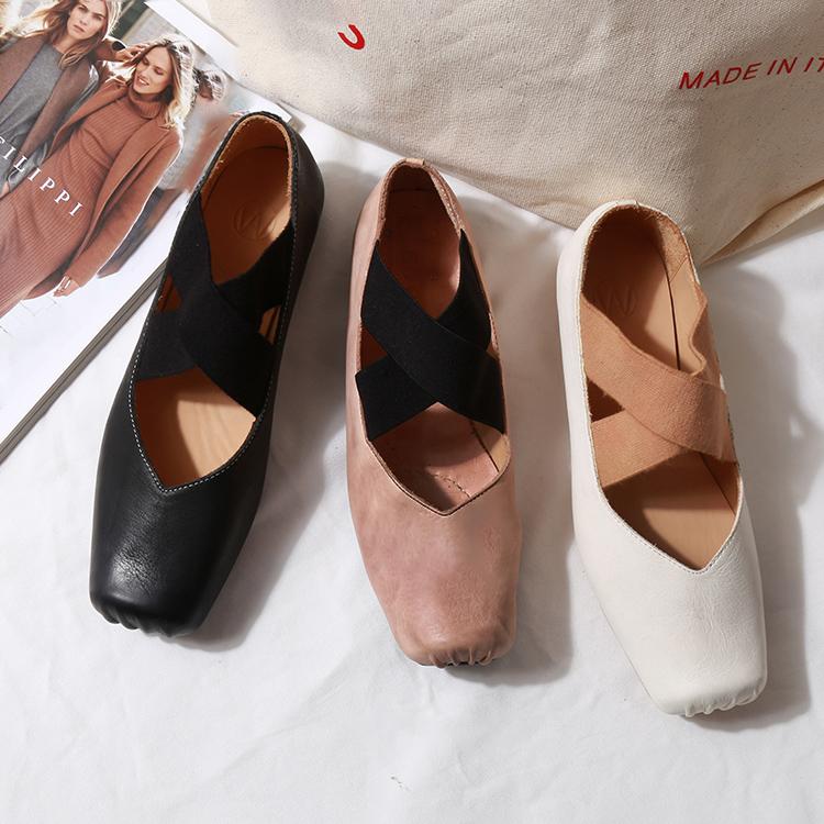 网红芭蕾跳舞鞋女平底2020新款复古玛丽珍鞋仙女交叉绑带软底单鞋