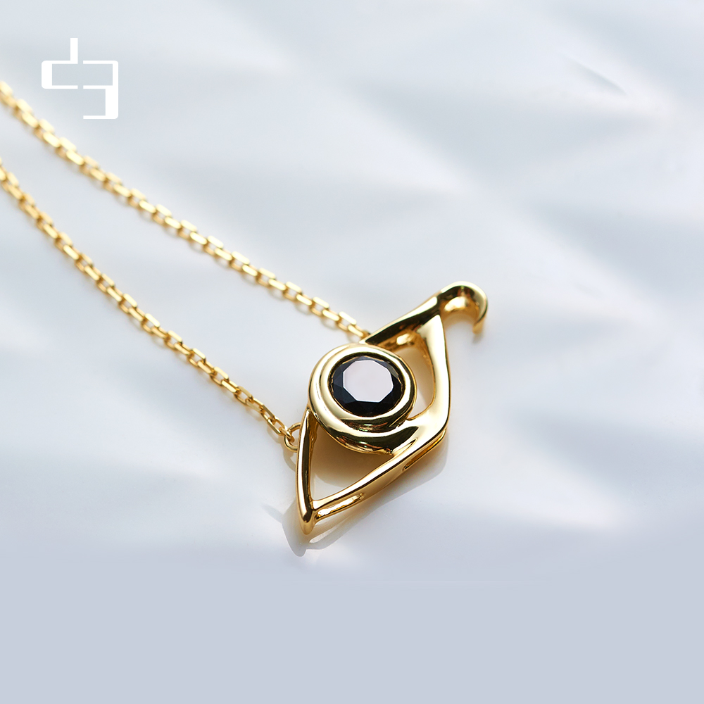 D3 house independent design 925 silver Qianli eye clavicle chain womens simple creative gem personality fashion gift Necklace