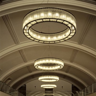 酒店水晶吊灯大厅圆形简约现代宴会厅会所沙盘售楼部美式工程灯具