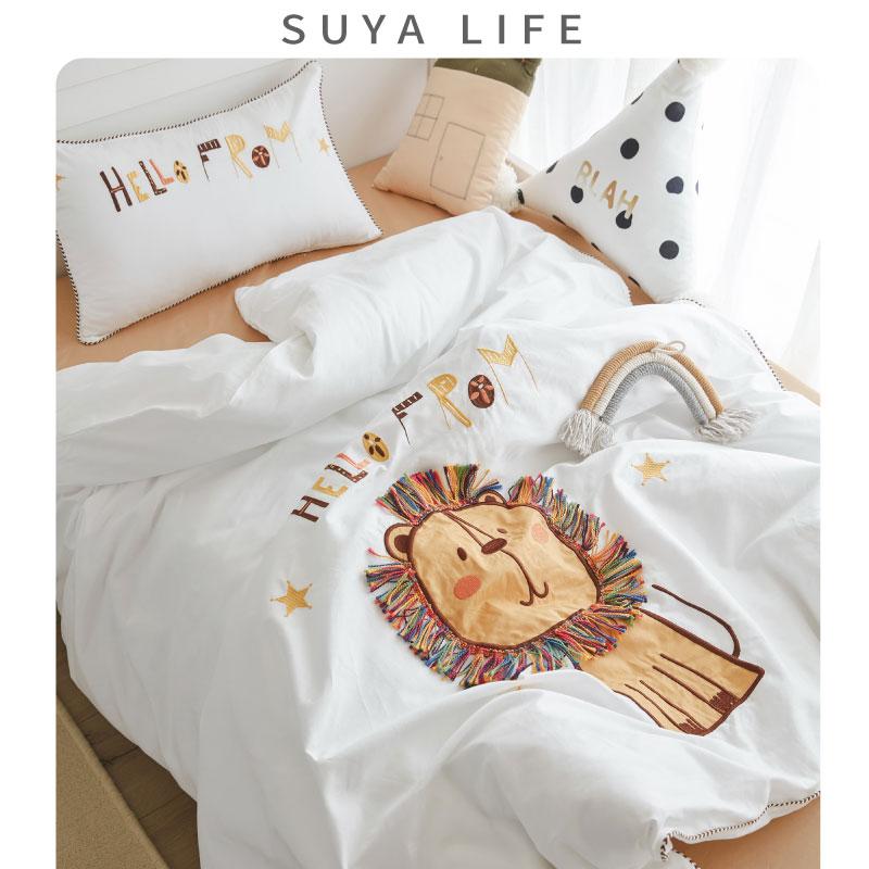 定制床品宝宝全棉被套床单被子四件套床上用品婴儿幼儿儿童三件套