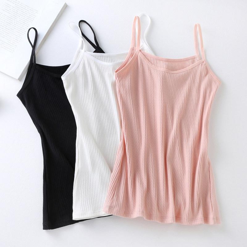 【2条装】纯棉吊带背心女士外穿无袖打底衫抺胸上衣内搭韩版性感