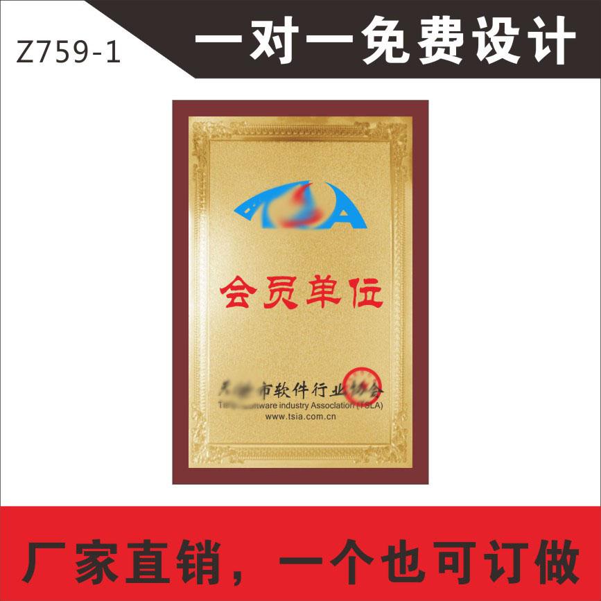 门牌字定制铜牌制作广告牌模范证软件协会会员单位定制定做熏