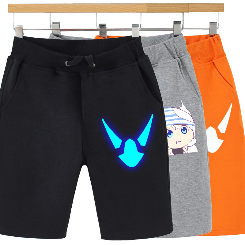 Night light destroys school garden 3 pants two dimensional animation surrounding bachongying Wei pants cos casual sports pants shorts summer