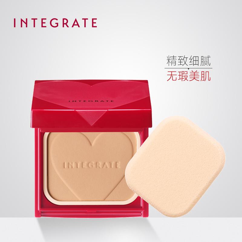 日本资生堂INTEGRATE光透美颜粉芯+粉饼盒 控油定妆持久 官方图片