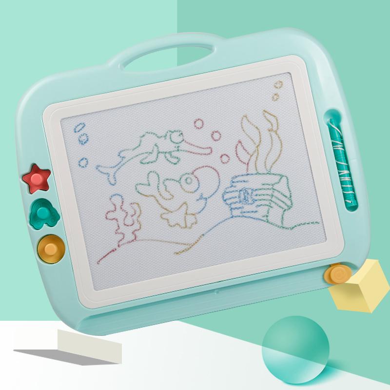 Самоцвет интерес ребенок записная книжка магнитный wordpad карандаш цвет ребенок младенец магнитная сила ребенок граффити доска 1-3 лет 2 игрушка