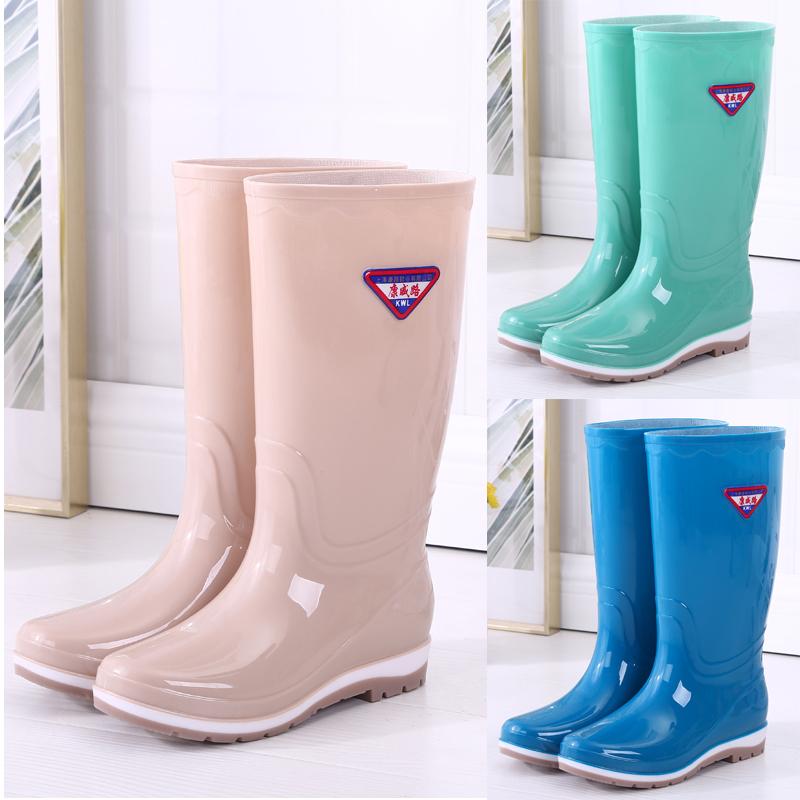 雨鞋女高筒雨靴中筒水靴水鞋加绒防滑胶鞋套鞋时尚高筒雨鞋冬包邮