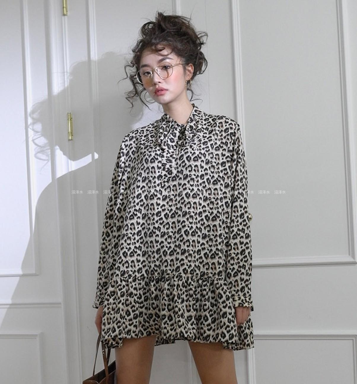 狂野个性stylenanda洛丽塔系列 豹纹印花 娃娃连衣裙