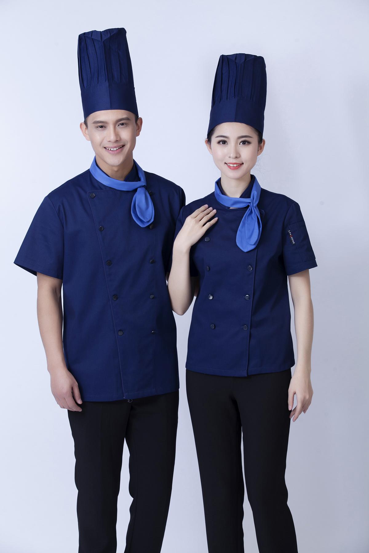 意大利餐厅蛋糕师工作服订做印字厨师服半袖夏装蛋糕服裱花师制服