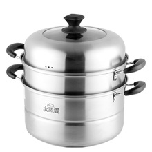 Jiuyang Steamer Stainless Steel 2-fold Multi-3-layer Thickened Electromagnetic Furnace Steamer for Steamed Steamed Steamed Steamed Steamed Steamed Steamed Steamed Steamed bread Soup Pot for Household Small Gas Stove