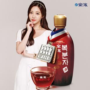 韩国原装进口宝海覆盆子果酒女士低度水果味甜酒送礼酒树莓酒红酒