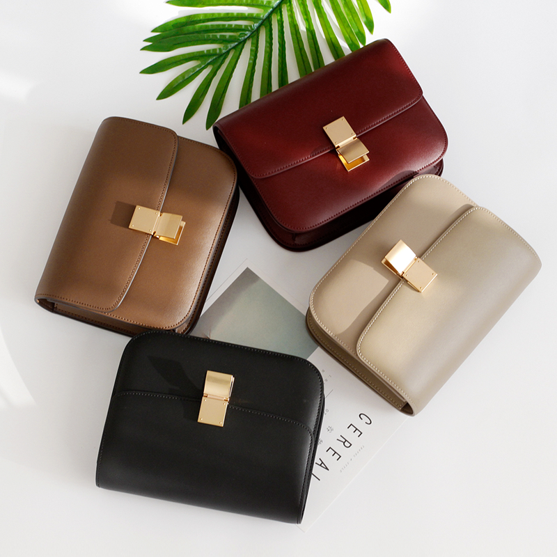 Bag autumn and winter high end hand rubbing pattern cowhide retro fashion leather small square bag womens Bag Fashion