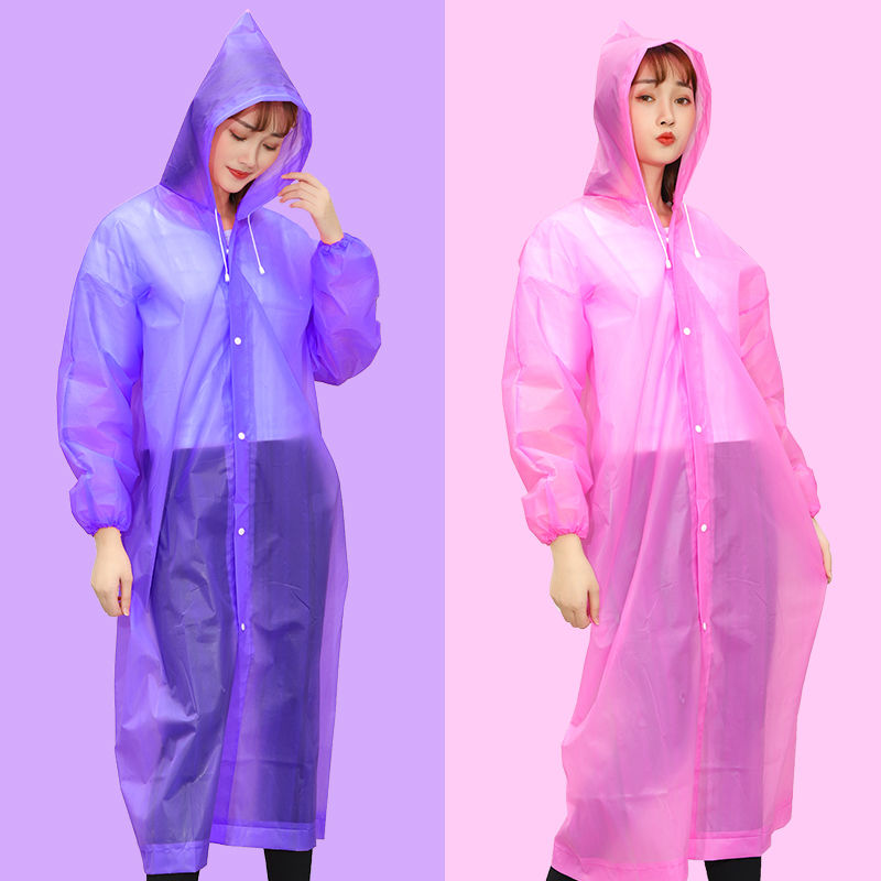 Thickened non disposable raincoat one-piece suit raincoat womens mens childrens raincoat adult rain proof whole body