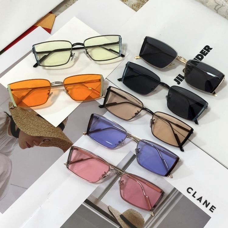 ?2021年新款NICO太阳镜男韩版长方形ins时尚撞色网红墨镜女潮眼镜