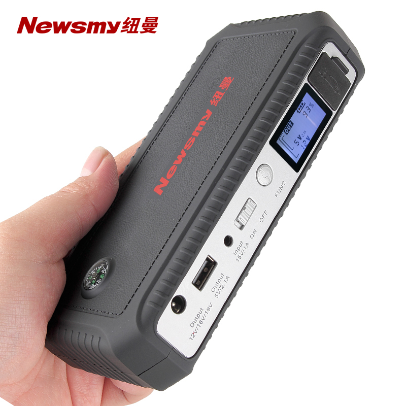 紐曼W18汽車載電瓶應急啟動電源12V 備用幫電充電寶打火搭電神器