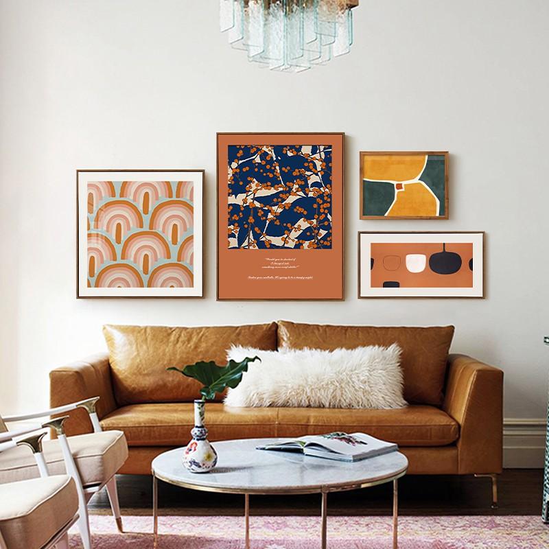 新款北欧现代轻奢组合挂画客厅沙发背景墙装饰画简约餐厅卧室墙面
