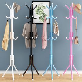 简易衣帽架卧室落地挂衣架家用经济型衣服架子包架创意单杆式衣架图片