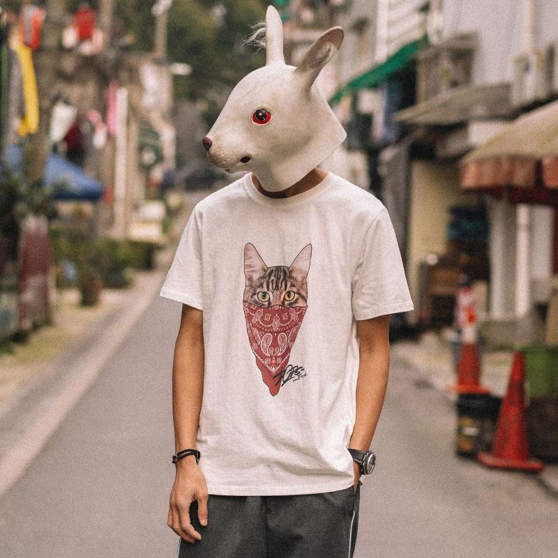 兔先森男丅恤短袖潮牌个性宽松t恤热销25件包邮